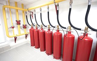 Установка и монтаж газовых систем пожаротушения