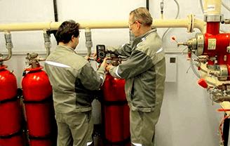 Обслуживание и сервис газовых систем пожаротушения